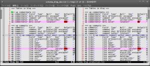 mysql 環境毎にDBスキーマが異なってるかどうかを調べる